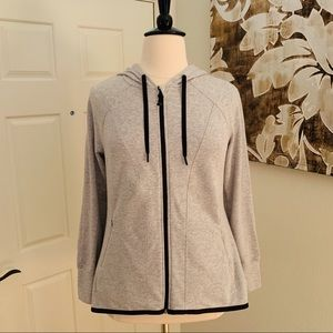 LIVI Active Hooded Heather Gray Active Jacket